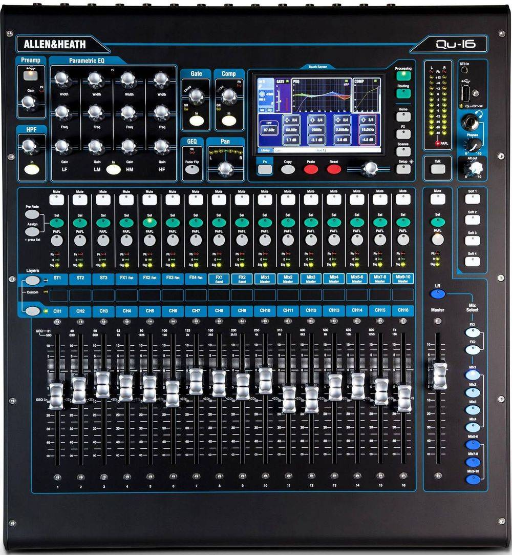 Rent Allen Heath QU-16 Digital Mixer