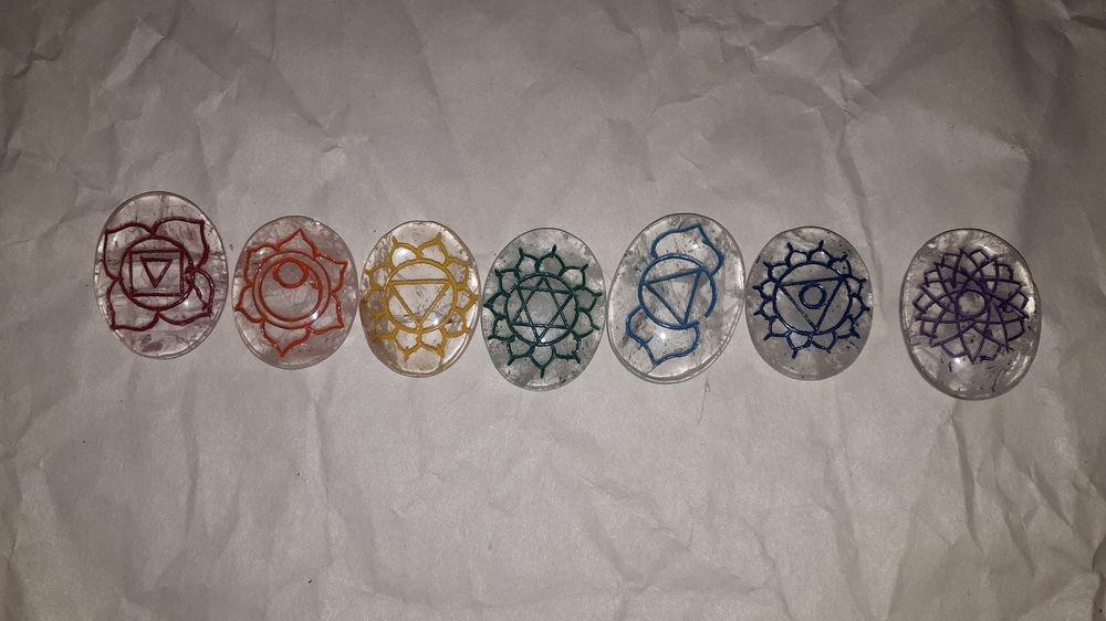 Reiki Set Quartz Chakra Stone