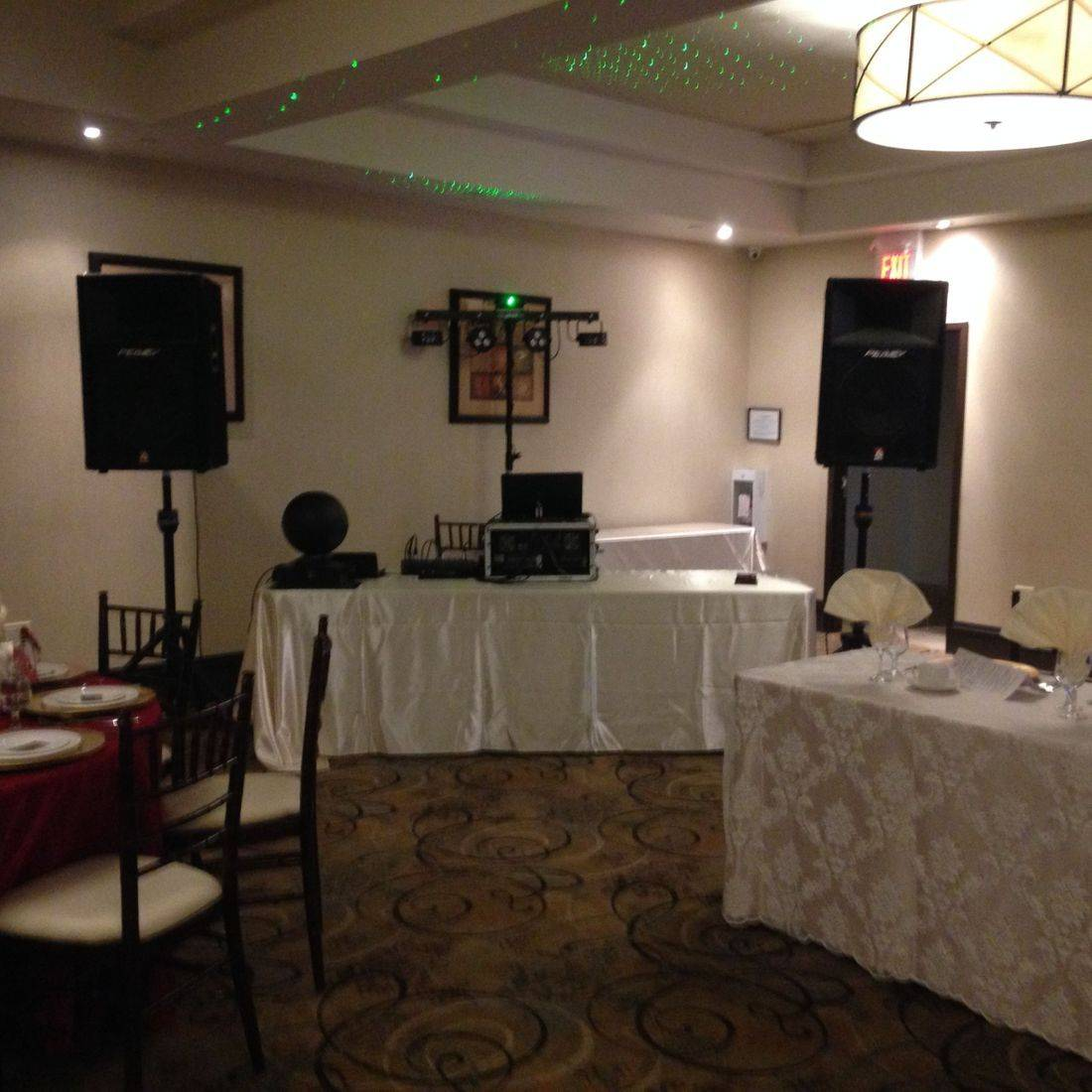 Mr. Productions DJ Service providing DJ Services for a Wedding at the Marquis Gardens in Ancaster.
