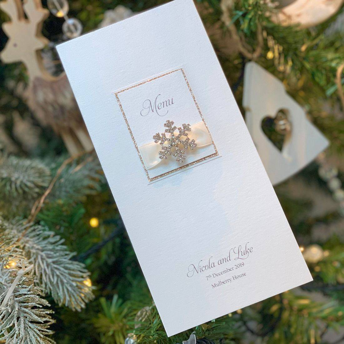Christmas Pocket Wedding Invitation