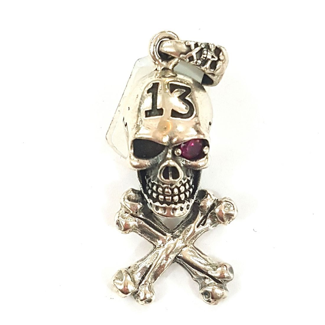 solid silver skull pendant available at Kazbah online and our Leicester City Centre shop