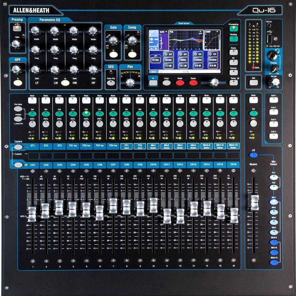 16 Channel Digital Stage Mixer for Rent