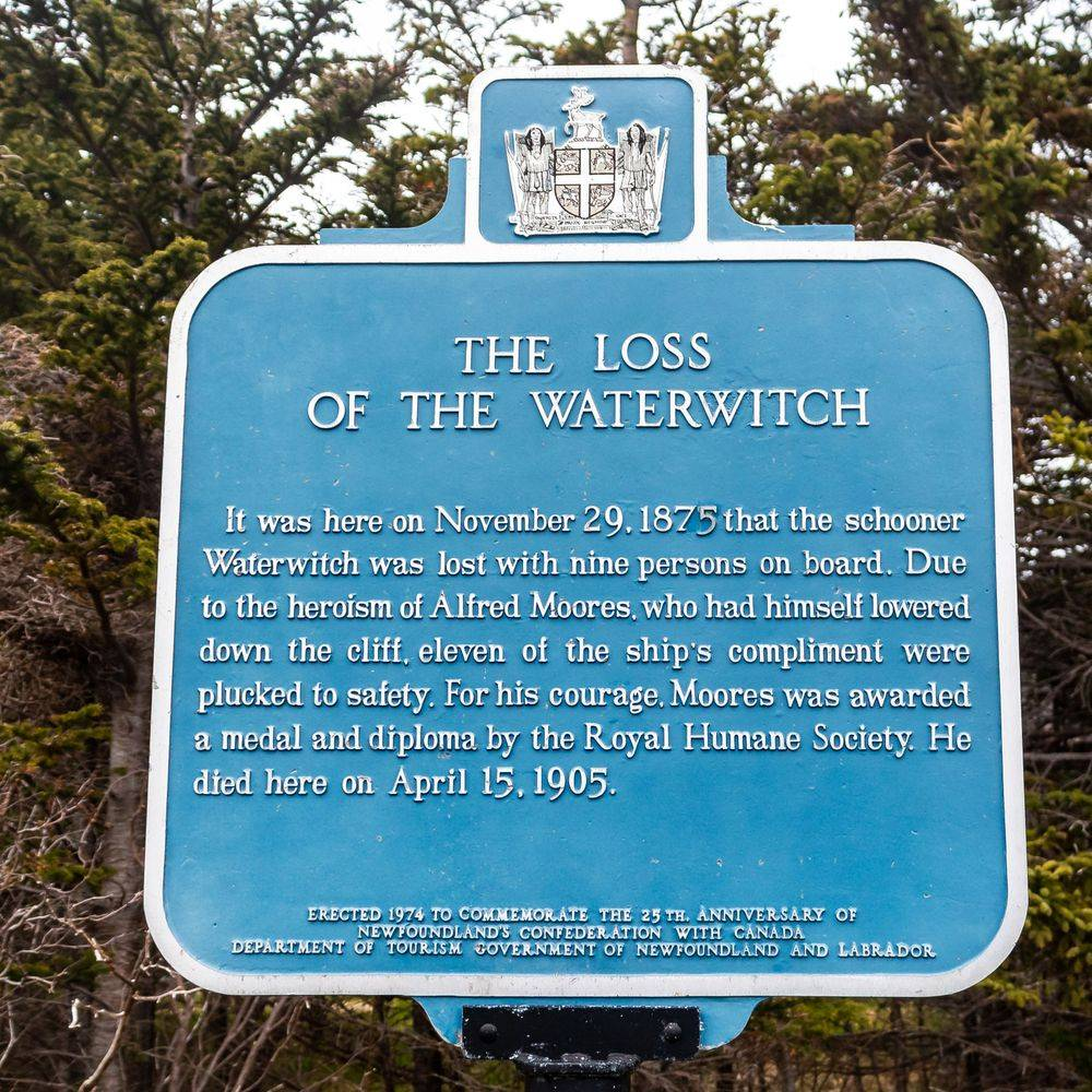 Loss of the Water Witch, Horrid Gulch, Pouch Cove, Newfoundland