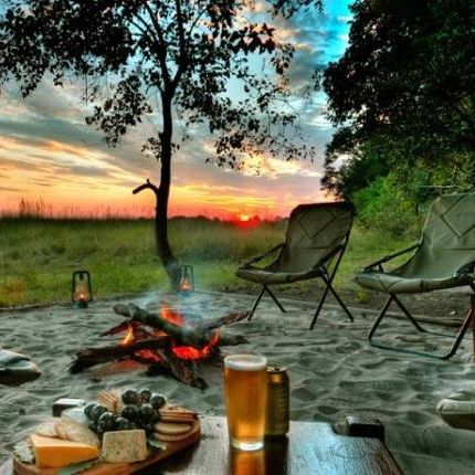 Camping in Kelowna in the summer.