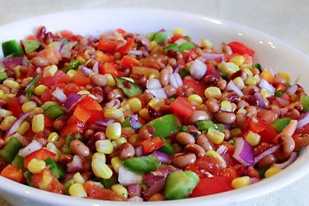 The creole black eyed pea salsa is vegan