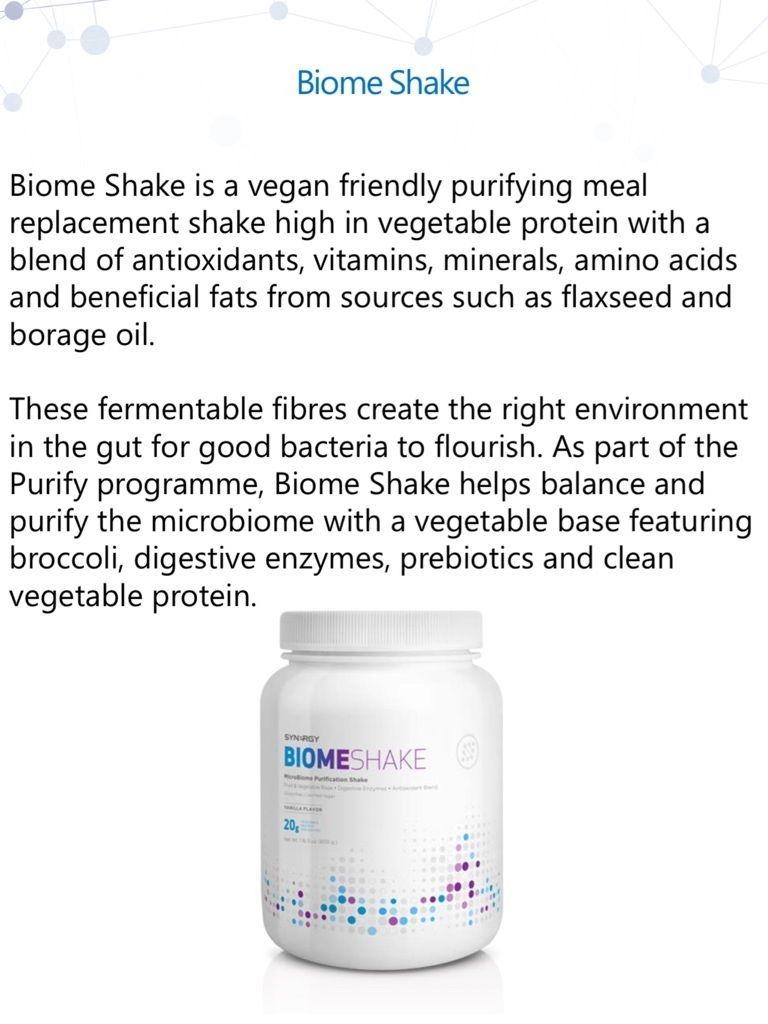 Synergy Biome shake, protein shake, vitamins, health, microbiome