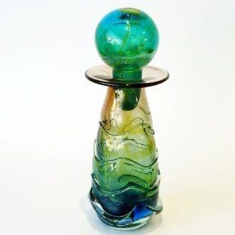 MDINA bottle vase with trailing,24cm