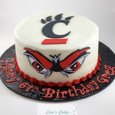 U.C. Bearcats Birthday Cake