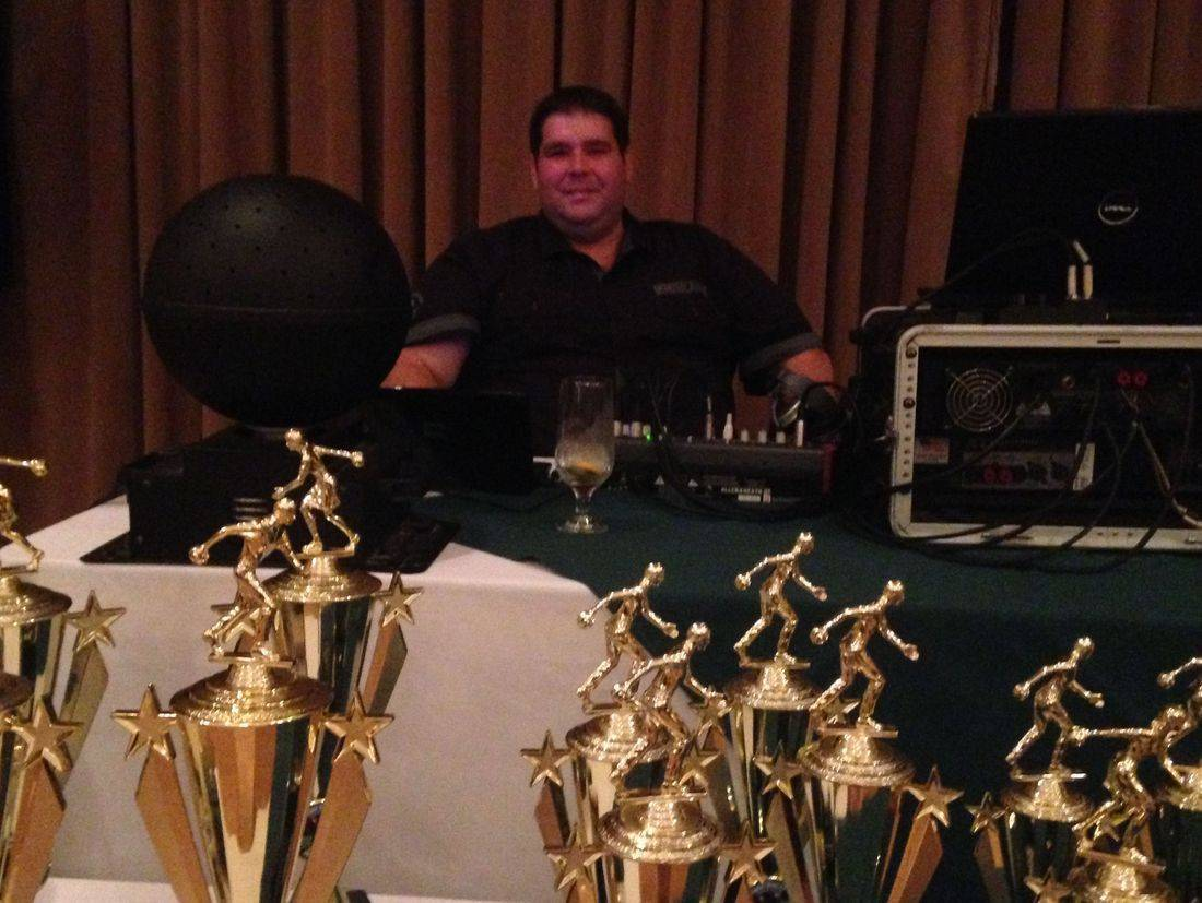 DJ at an award banquet