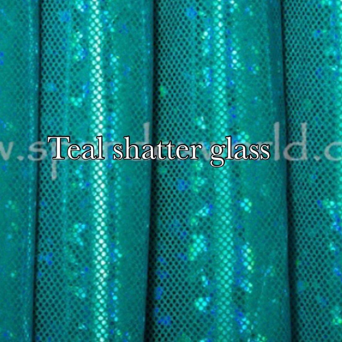 Teal shattered glass