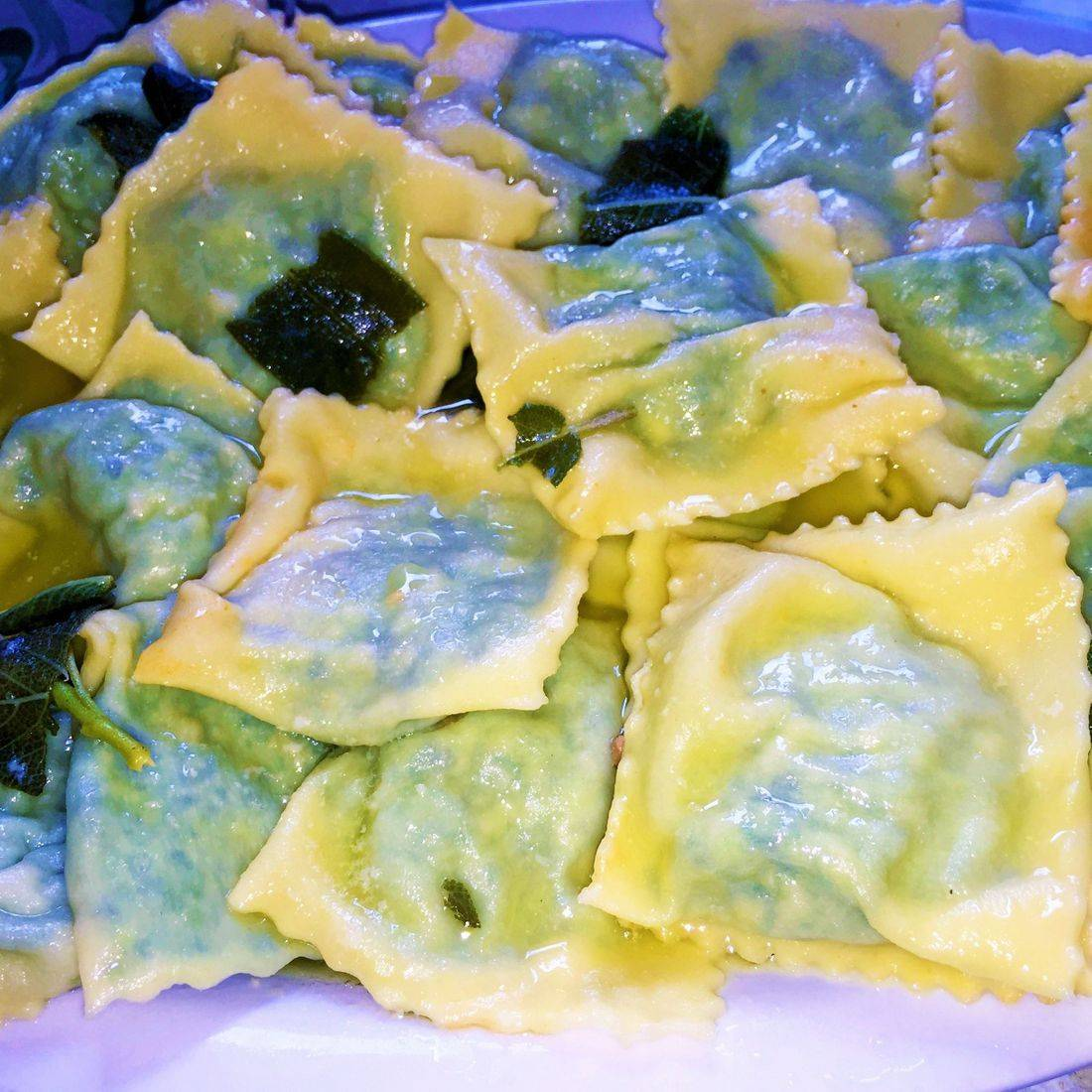 ravioli with sage and butter
