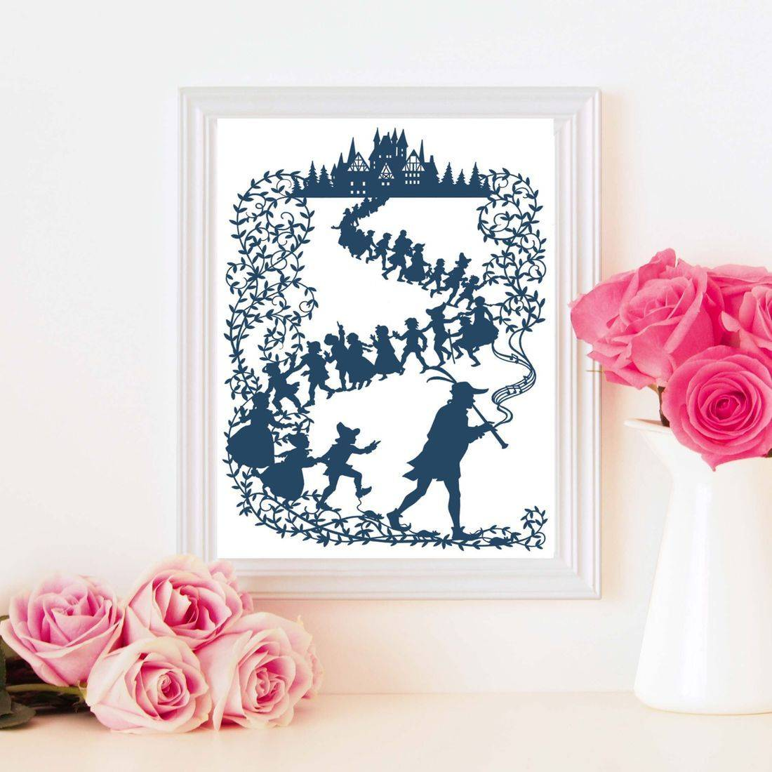 pied piper of hamelin, crafting template, svg, studio, jpeg, bramble crafts