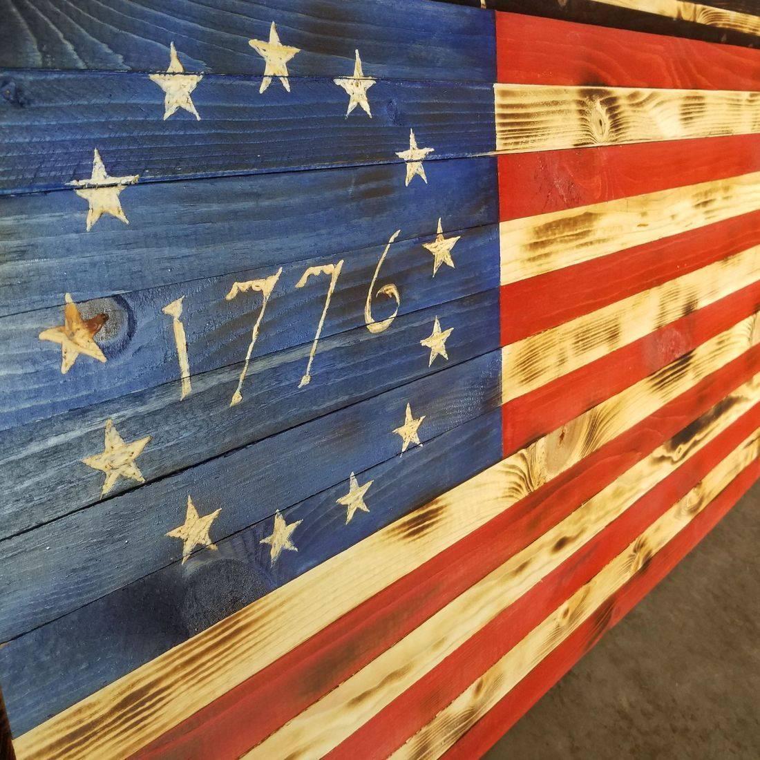 Betsy Ross wooden flag