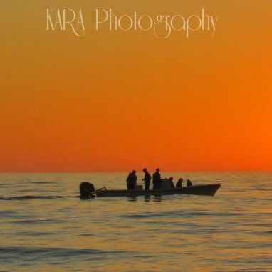Gulf of Mexico, Florida, Sunset, Ocean, Fishing