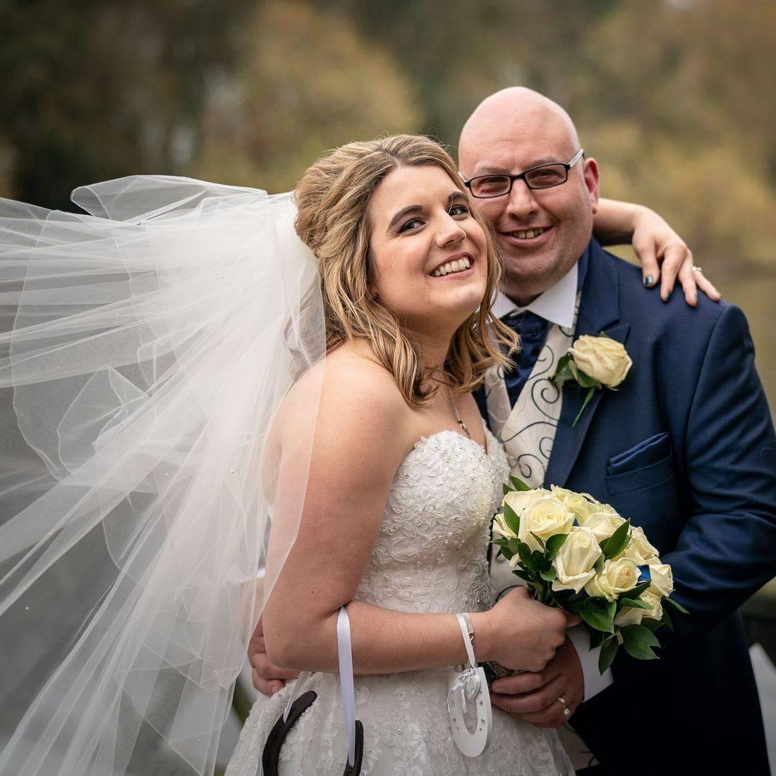 Lace Wedding dress, veil, happy wedding day