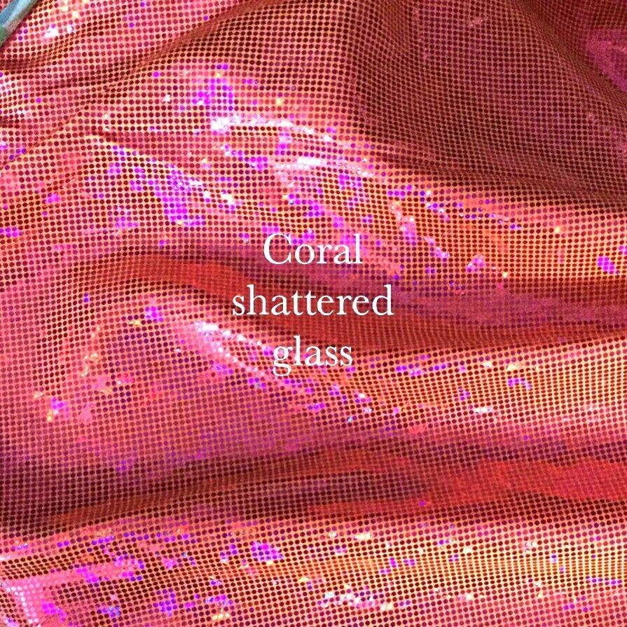 Coral shattered glass