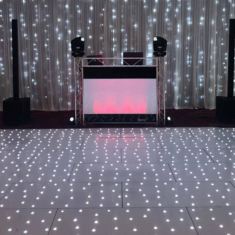 Stourport Manor Hotel #Worcesterhsire #wedding #dj #weddingentertainment #barn #barnwedding #leddancefloor
