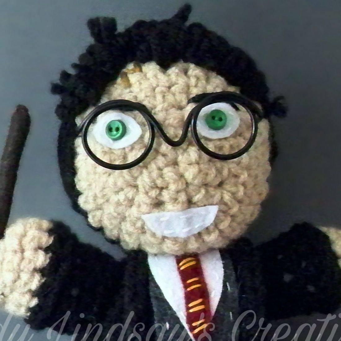 Harry Potter, Potterverse, Potterhead, Amigurumi, fantasy, wizard, magic, the boy who lived, comicbooks, videogames, handmade, crochet, plush, doll, Shop Small