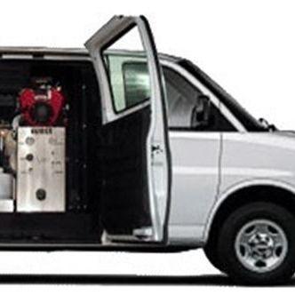 Van with its door open