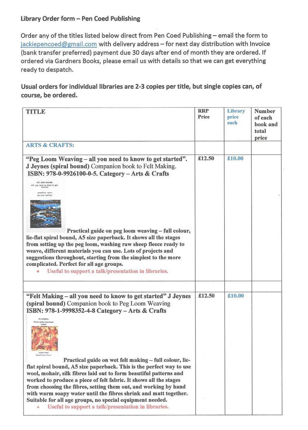 order books for libraries, order online