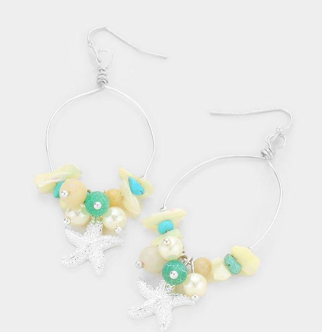 jewelry, earrings, starfish