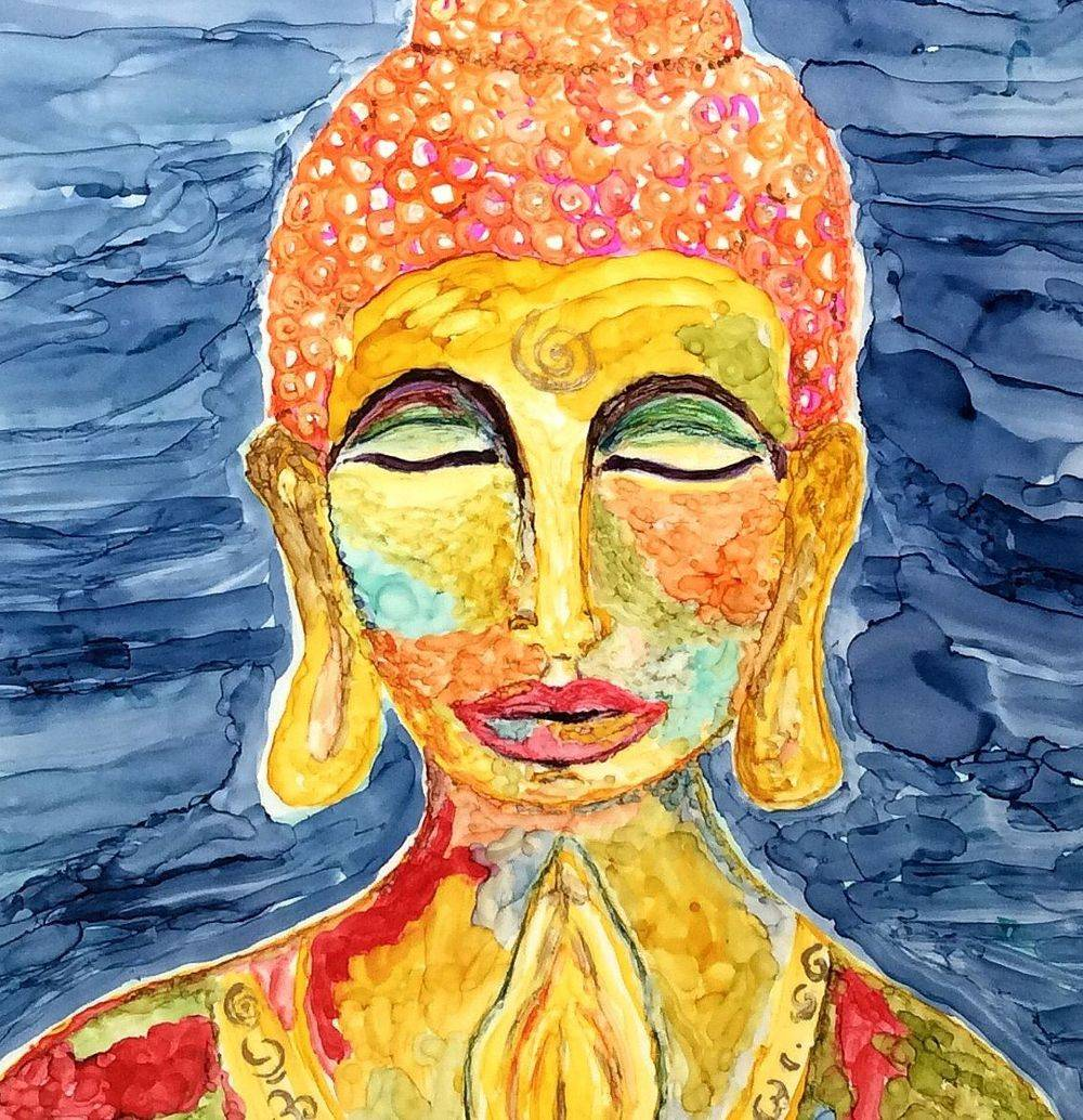 Acrylic mixed media collage, woman in art, figurative artwork, cancer survivor art, ethereal art, inspirational art, acrylic art, mixed media artist