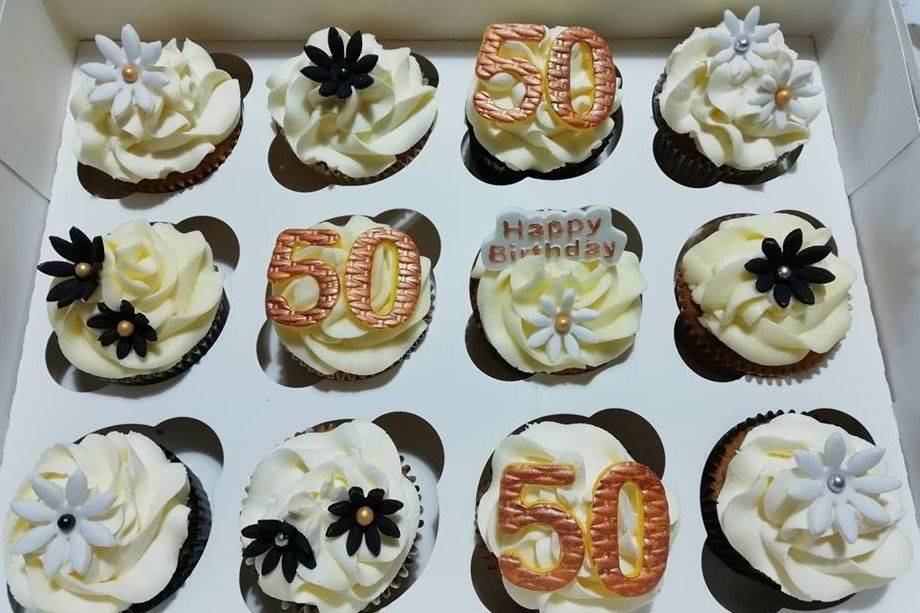 50th Cupcakes