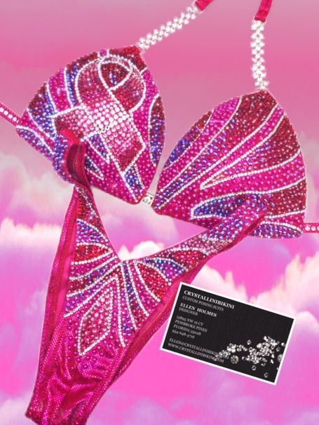 pink ribbon figure suit