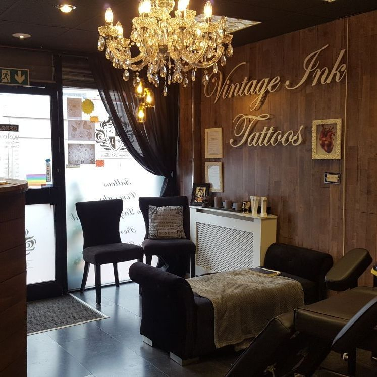 Vintage Ink Front Desk  And Waiting Area