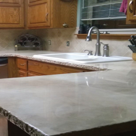 CounterFIT LLC - Kitchen countertop concrete overlay