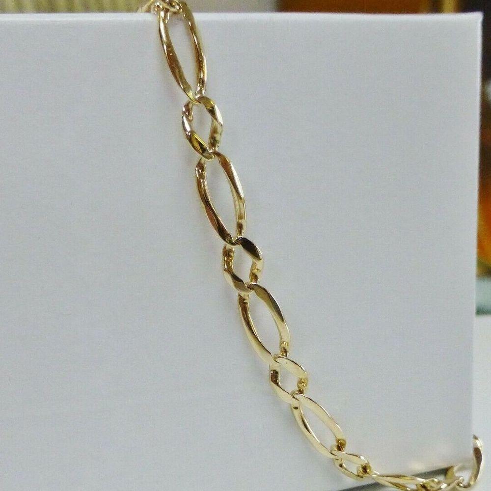 Yellow Gold Figaro Bracelet
