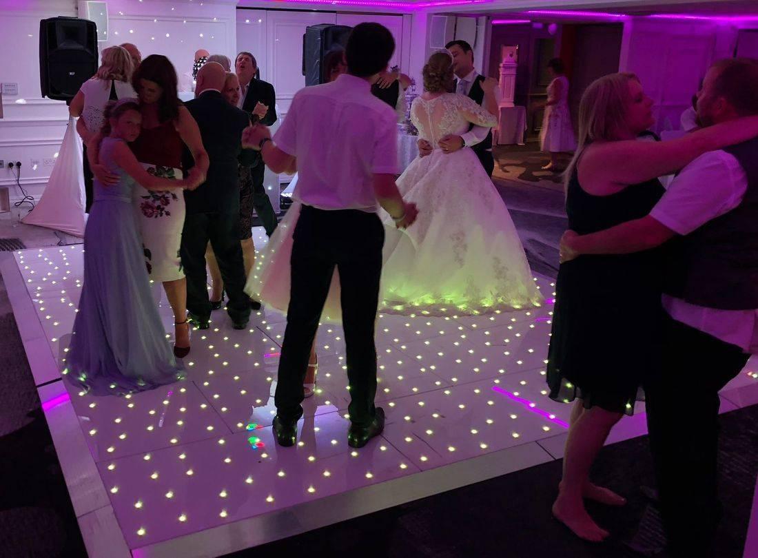 Led Dancefloor, Hoar Cross Hall Staffordshire wedding Venue