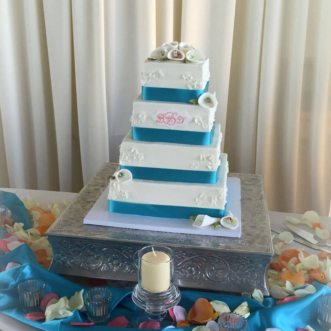 Buttercream Wedding Cake  southern  Chic