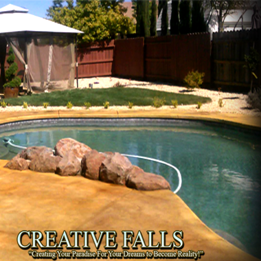 Elk Grove Pool Landscape by Creative Falls