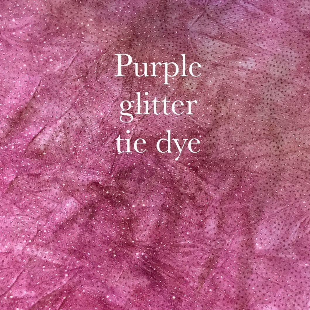 Purple glitter tie dye