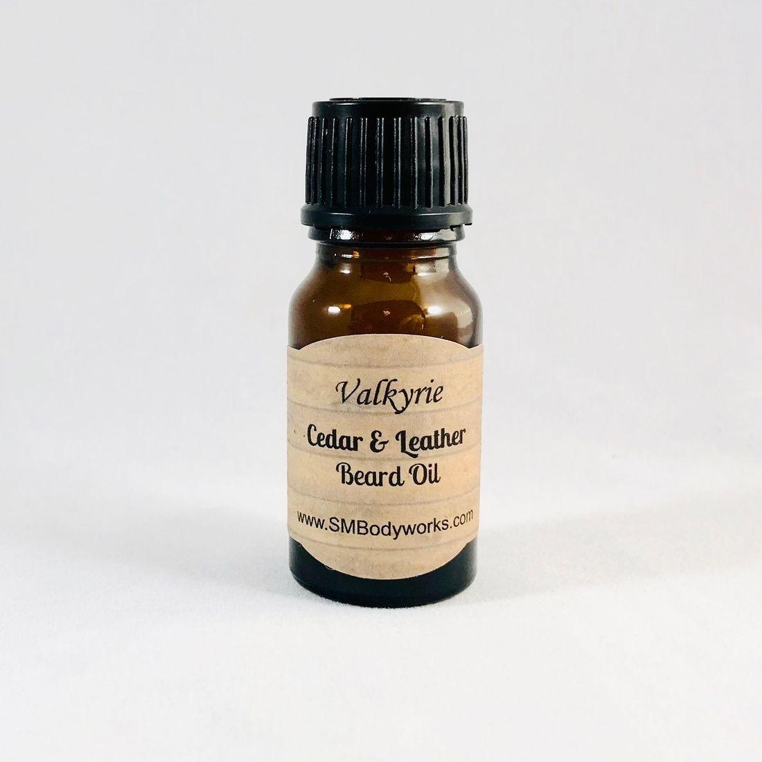 Cedar & Leather Sampler, Balm, Beard Oil,