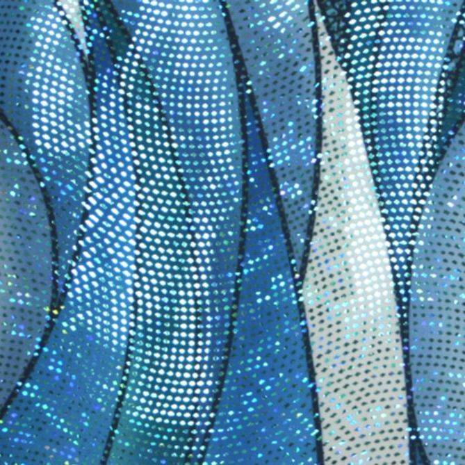 blue hologram abstract print