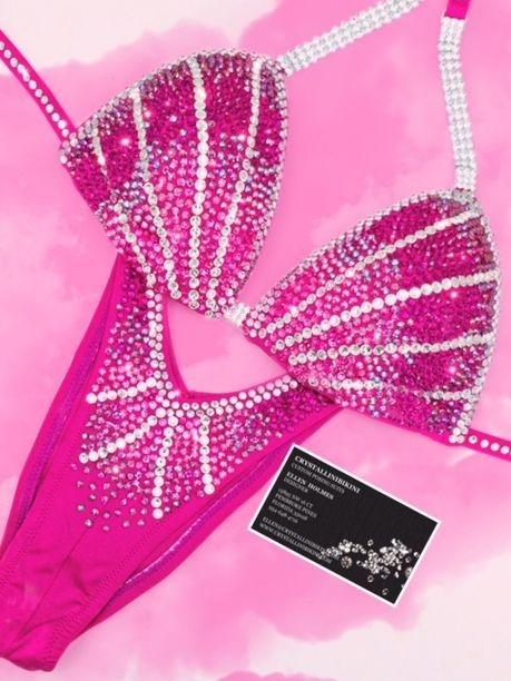 hot pink figure suit