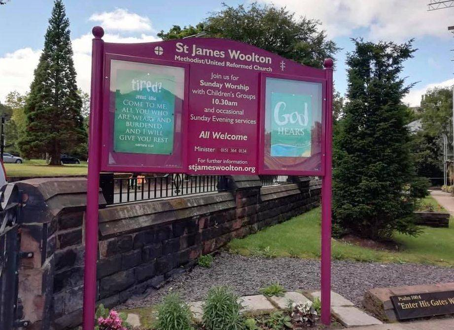 St James Woolton Liverpool Noticeboard
