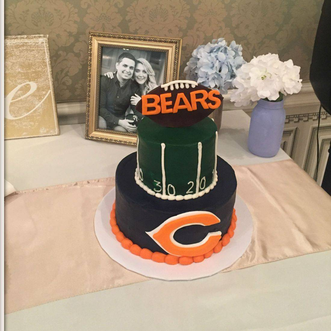 Chicago Bears Grooms Cake