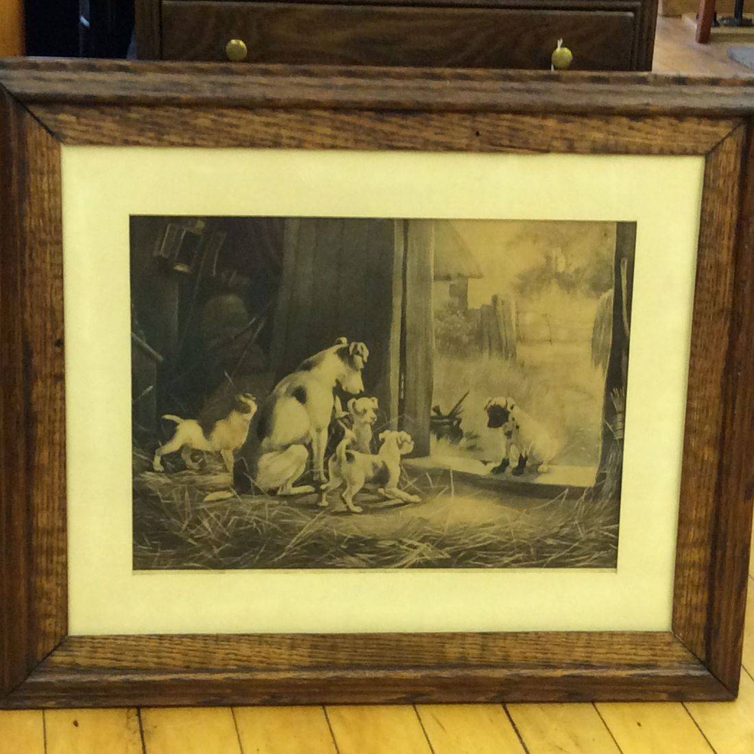 "Circa 1890's  'A Disgrace To His Family' Litho by Stanley Berkley - 20-1/2"" x 24-1/2"" Frame   $75.00"