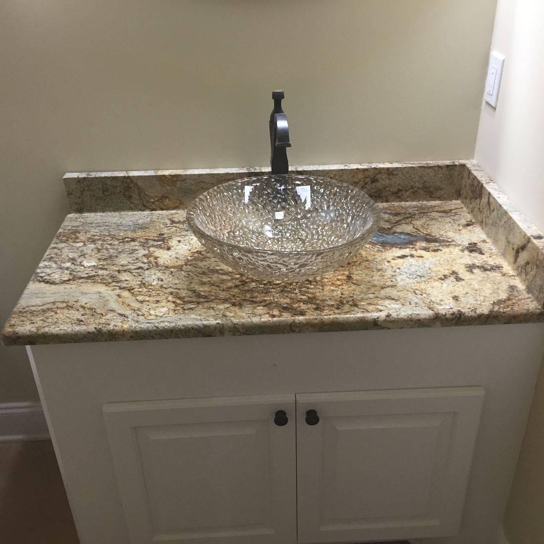 Granite bathroom sink