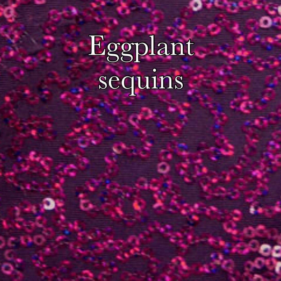 eggplant sequin