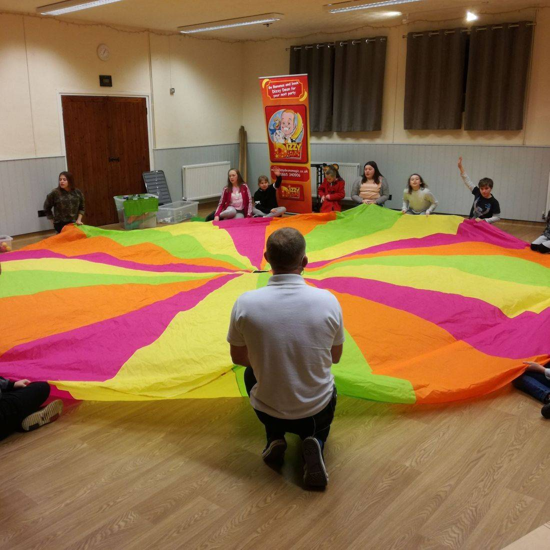 Parachute Games at Children's Magic Show