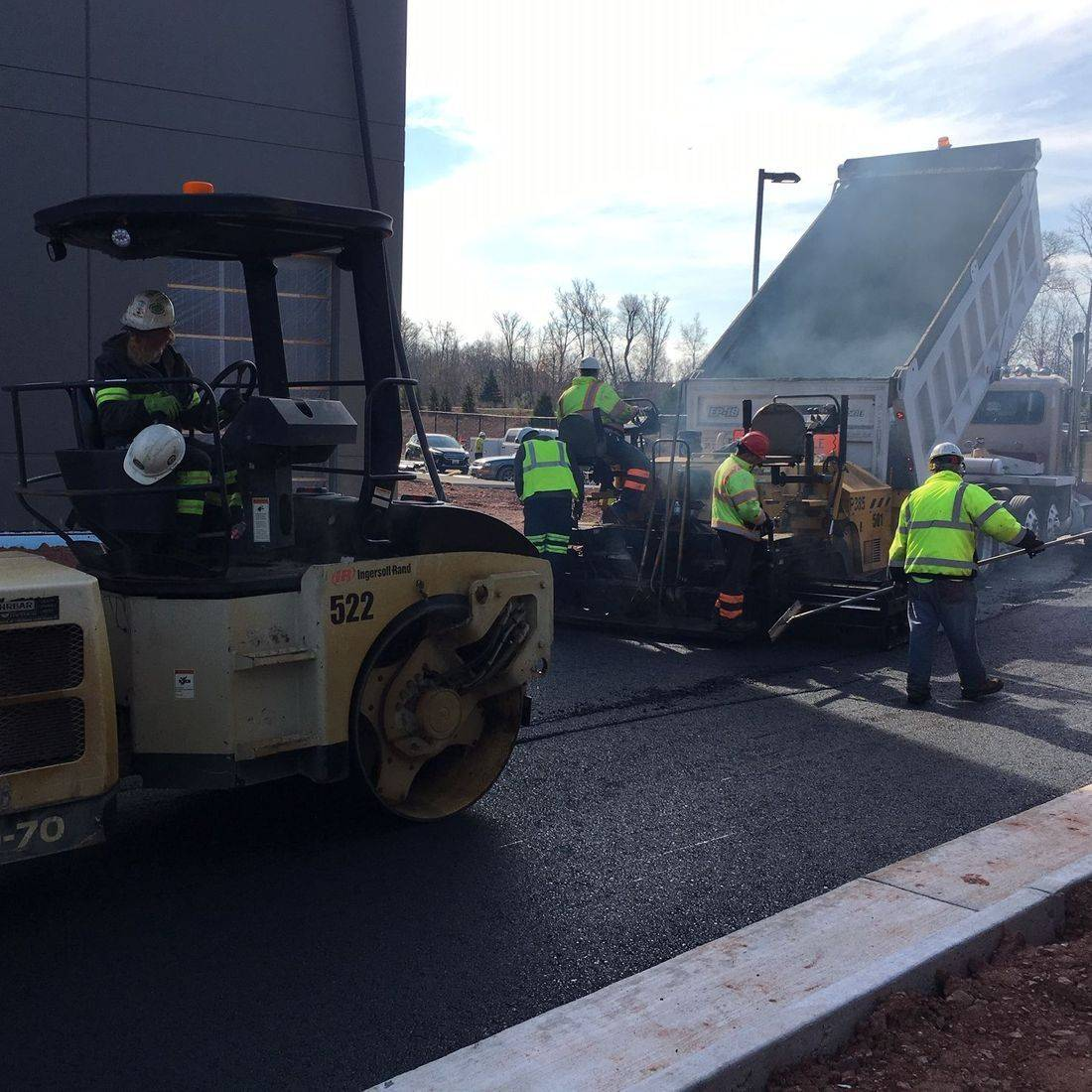 Installing Asphalt Parking Area