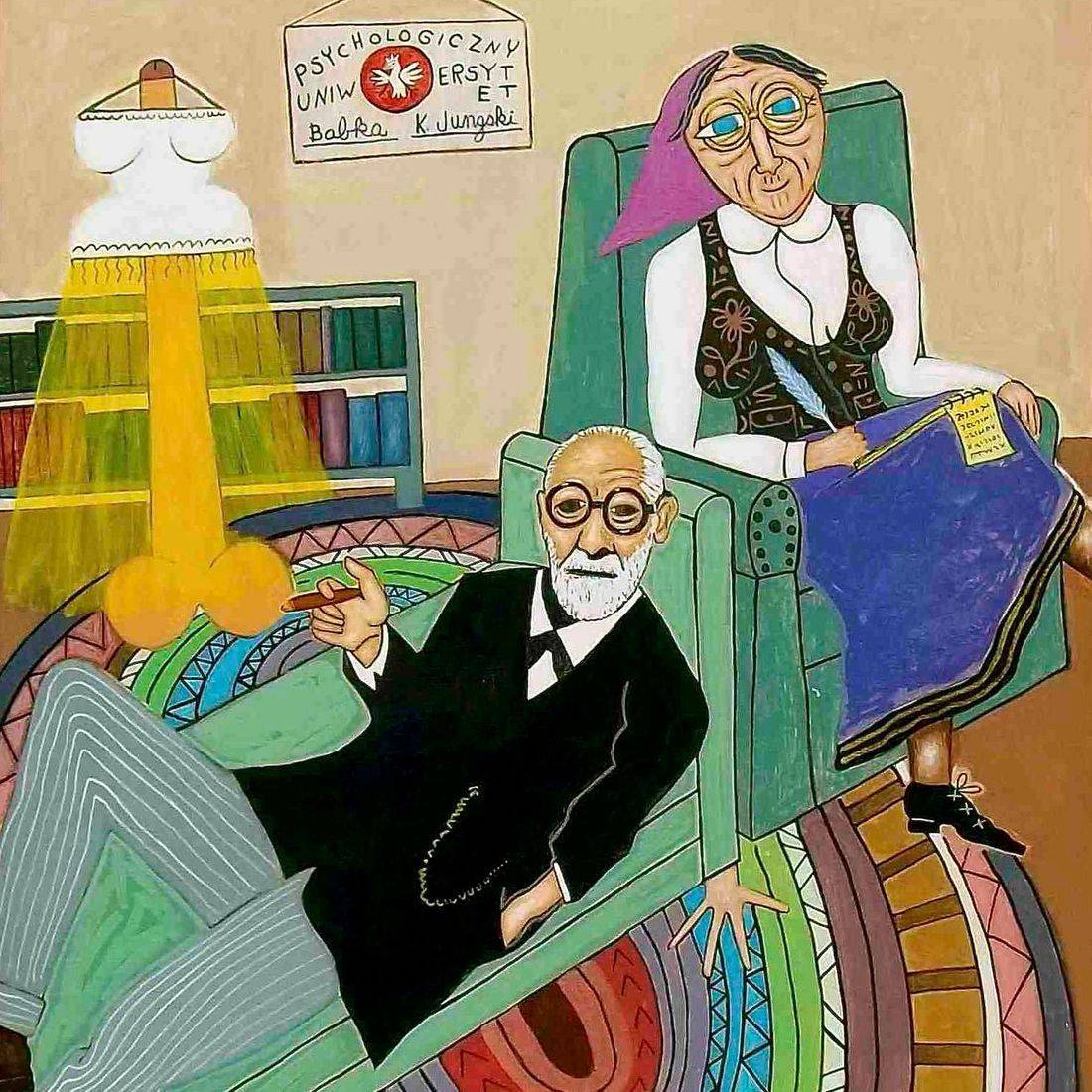 Sigmund Freud, Sometimes a Cigar and Just a Cigar, Kielbasa, Grandmother, Psychotherapist, Psychiatrist, Counselor, Freudian Slip, Sexual Imagery, Braided Rug, Cat, Phalic Symbol