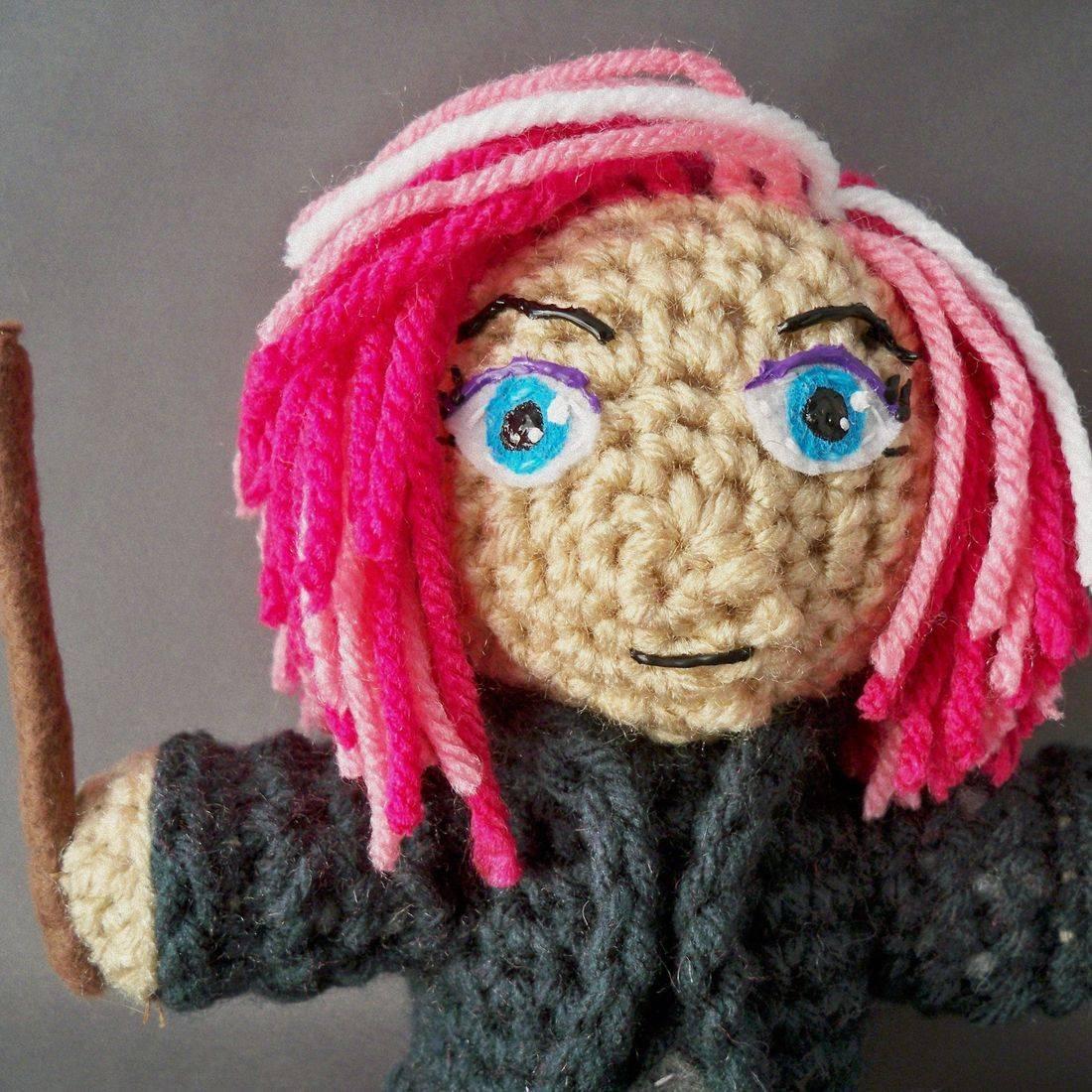 Nymphadora Tonks, Tonks, Harry Potter, Witch, Wizard, Magic, amigurumi, plush, doll, toy, handmade, crochet, nerd, geek