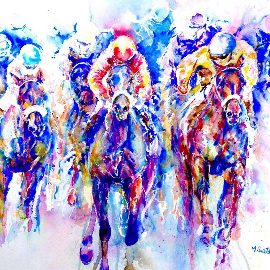 Aintree Racecourse by Mary Saifelden