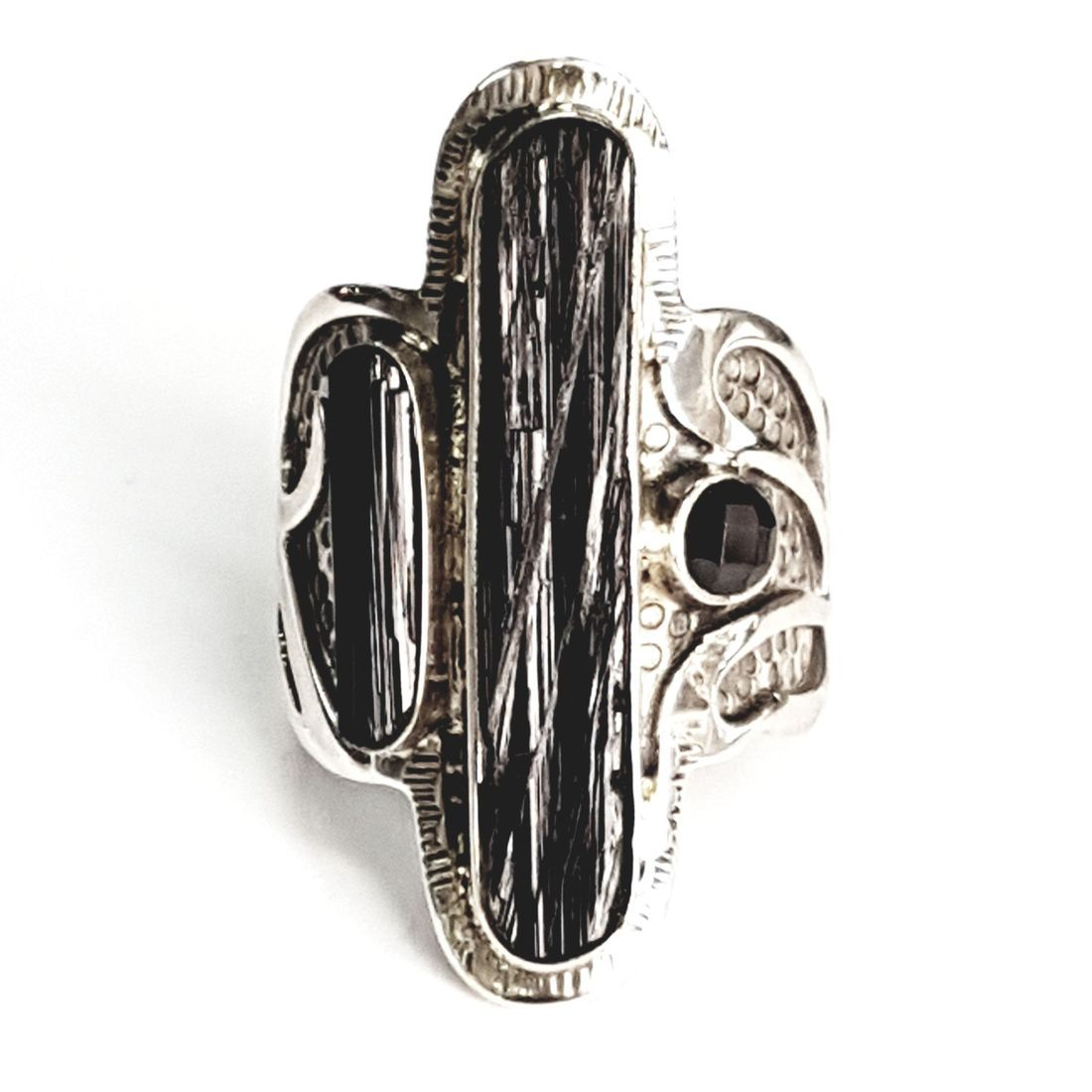 Black Tourmaline ring available at Kazbah online and our Leicester city centre shop