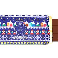 alicja confections, holiday postcard, chocolate postcard bar